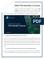 Vital Tips to Make PCB Assembly a Success-converted