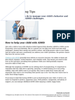 ADHD Parenting Tips