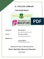 MLIS internship report.