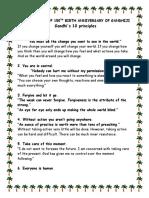 Gandhi 10 principles