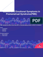 Causes and Emotional Symptoms in Premenstrual Syndrome(PMS)