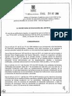 RESOLUCION No. 2841 CALENDARIO ACADEMICO 2020