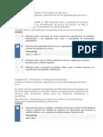 Apol 2 a 5 Processos e Produções de Serviços