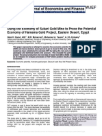 Using the Economy of Sukari Gold Mine to Prove the Potential Economy of Hamama Gold Project, Eastern Desert, Egypt