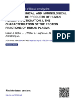 CHEMICAL, CLINICAL, AND IMMUNOLOGICAL STUDIES ON THE PRODUCTS OF HUMAN PLASMA FRACTIONATION. I. THE CHARACTERIZATION OF THE PROTEIN FRACTIONS OF HUMAN PLASMA
