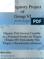 Investigatory Project ( Tilapia Feed)