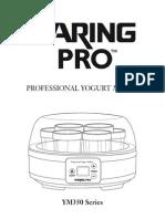 Waring Pro Yogurt Ym350 Manual