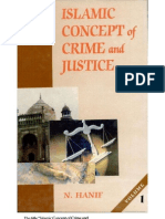 Islamic concept of crime and justice (Vol 1)
