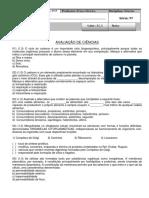Avaliação de Nivelamento de Ciências 9º Ano - Anual 2019.docx