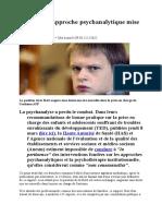 Autisme - l'approche psychanalytique mise hors jeu - Le Monde mars 2012