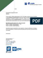 Certificado Laboral ECOM