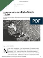¿Qué Drama Ocultaba Nikola Tesla