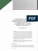 Martínez Montero (2001) Los Efectos No Deseados (y Devastadores) de Los Métodos Tradicionales de Aprendizaje de La Numeración y de Los Algoritmos de Las Cuatro Operaciones Básicas