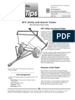 USDA Forest Service ATV Utility and Gravel Trailer