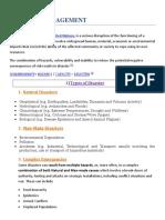 Disaster Management - SUMMARY.docx