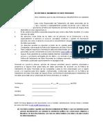 AUTORIZACIÓN PARA EL TRATAMIENTO DE DATOS PERSONALES