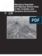 USDA Forest Service Managing Degraded Off-Highway Vehicle Trails in Wet, Unstable, And Sensitive Environments