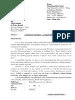 Application for School Leaving Certificate