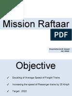 DG RDSO Mission raftaar 230518