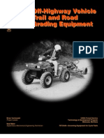 USDA Forest Service Off-Highway Vehicle Trail and Road Grading Equipment