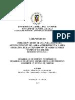 IMPLEMENTACIÓN DE UN APLICATIVO PARA LA AUTOMATIZACIÓN DEL AREA ADMINISTRATIVA Y OPERATIVA DE LA CORPORACIÓN COMPAB