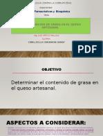 DETERMINACIÓN DE GRASA EN EL QUESO ARTESANAL.pptx