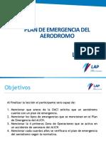 Lección X Plan de Emergencia