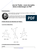 Theoreme thales