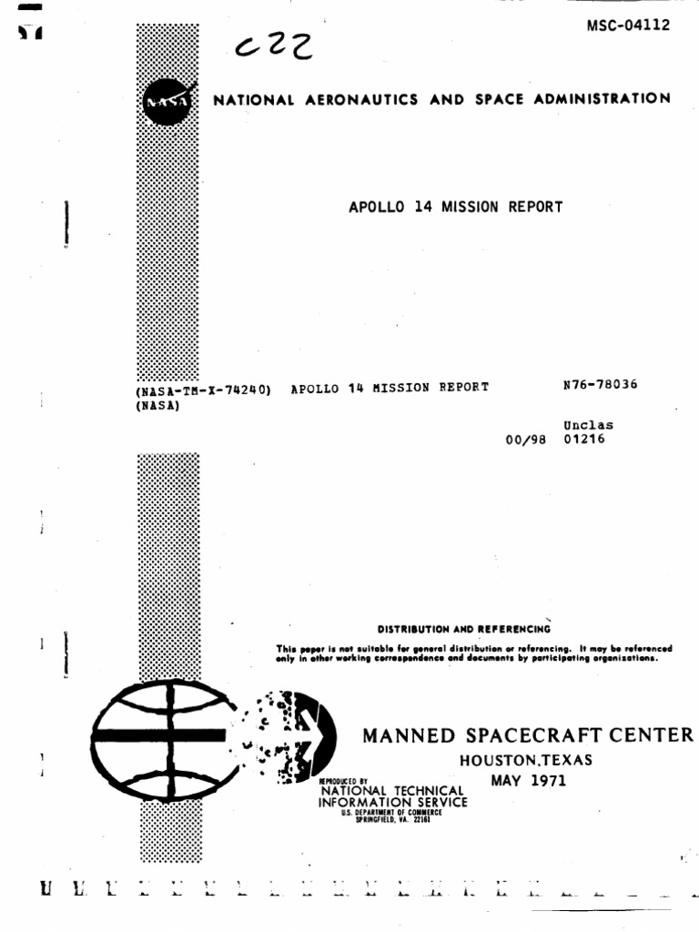 Apollo 14 Mission Report Program Space Colonization Servo Control Circuit Of Dc Motor Controlcircuit Diagram