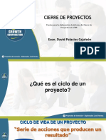 Presentación PPT - Cierre de Proyectos