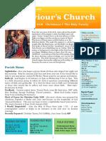 st saviours newsletter - 29 dec 2019 - christmas i