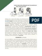 MATERIAL DE FILOSOFIA PARA RECUPERAÇÃO