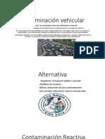 Contaminación vehicular