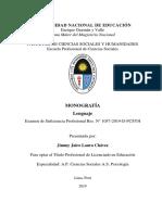 Lenguaje - Jimmy Jairo Laura Chavez