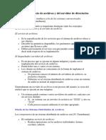 Interfaz del servicio de archivos y del servidor de directorios