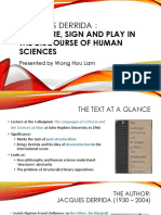 Derrida -  Structure, Signs and Play