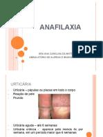 Urticária e anafilaxia Clínica - AULA APMppt