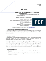 Sílabo Estrategia de desarrollo y política económica SCZ. 2020