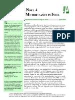 Financing Micro Finance in India