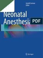 2015 Neonatal Anesthesia