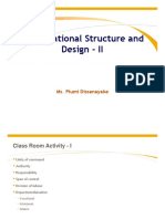 Lesson 03 Organisational Structure and Design - II