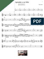 Aprender a Ser Feliz Educacao Musical Jose Galvao Partitura Simplificada