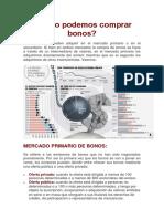 4. Cómo podemos comprar bonos