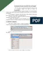 Tutorial para determinação de percentual de fase no ImageJ