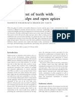 Management of teeth with necrotic pulps and open apices