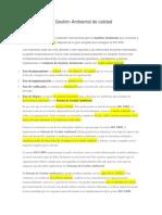 SISTEMA DE GESTION AMBIENTAL ISO