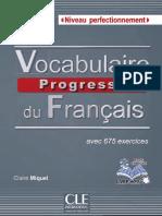 Vocabulaire Progressif Du Français - Niveau Perfectionnement