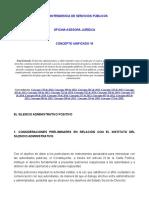 El silencio administrativo positivo concepto unificado superserv