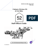 Staff Officers Guide