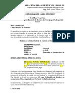 Modelo Demanda Cambio Nombre - Autor José María Pacori Cari